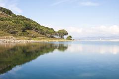 Cies natural park islands, galicia, spain Stock Photos