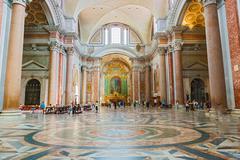 basilica of santa maria degli angeli e dei martiri in rome - stock photo