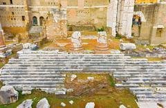 Forum of augustus, temple of mars ultor in rome, italy Kuvituskuvat