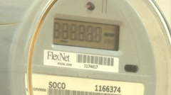 Utility electrical meter 01 Stock Footage