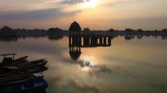 Stock Video Footage of Beauty of Rajasthan - Gadsisar Lake,  Jaisalmer