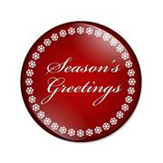 season's greetings button - stock illustration