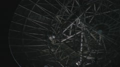 Field with Radio telescopes in the Night Stock Footage