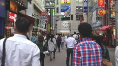 Busy Shibuya Shopping District Daytime  - Shibuya, Tokyo Japan Stock Footage