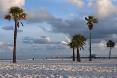 Clearwater Beach at sunrise. Stock Footage