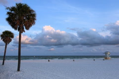 Lifeguard station on Clearwater Beach Stock Footage