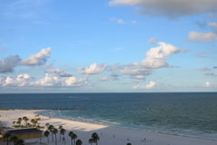Stock Video Footage of Looking down at Clearwater Beach sunrise