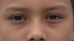 Eyes, Young Girl, Eyesight Stock Footage