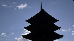Pagoda at Toji Temple in Kyoto, Japan - stock footage