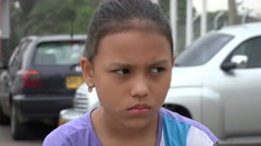Confused Girl, Confusion, Worry, Anxiety, Stress - stock footage