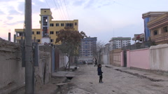 Run down street in Kabul - stock footage