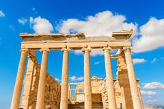 temple of athena nike in greece - stock photo