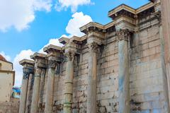 hadrian's library in athens, greece - stock photo