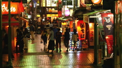 Time Lapse of Busy Shinjuku District at Night -  Tokyo Japan Stock Footage
