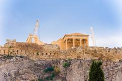 Acropolis hill in athens, greece. Stock Photos