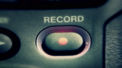 Stock Video Footage of Record Button Flashing Macro