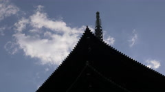 Pagoda at Toji Temple in Kyoto, Japan Stock Footage