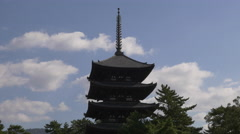 Pagoda at Kofukuji Temple in Nara, Japan - stock footage