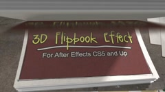 3D Flip Book Effect Stock After Effects