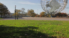 The Unisphere in Flushing Meadows Corona Park (5 of 8) Stock Footage