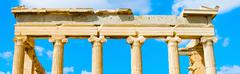 Temple of athena nike in greece Stock Photos