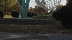 The Unisphere in Flushing Meadows Corona Park (3 of 8) Stock Footage