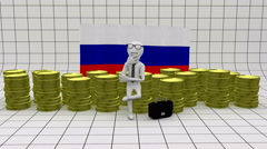 Economy in Russia - finance concept Stock Footage