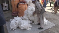 Man working in the street, Kabul - stock footage