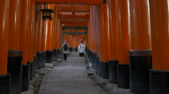 Shinto Priest at Fushimi Inari Taisha in Kyoto, Japan Stock Footage