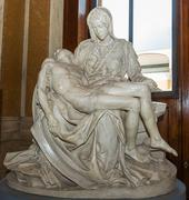 replica of the pieta in vatican museum - stock photo