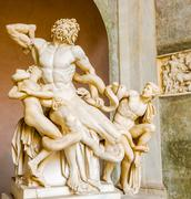 Laocoon and his sons statue in vatican museum Stock Photos