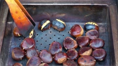 Cooking Chestnut Stock Footage