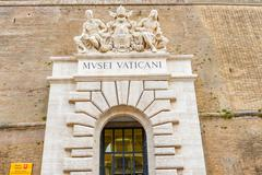 Entrance to museum in vatican Stock Photos
