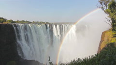 Victoria falls rainbow Stock Footage