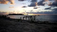 Stock Video Footage of Sunset in Hamlin Bay - Southwestern Australia