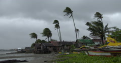 Hurricane Winds And Heavy Rain Lash Town Stock Footage