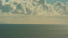 Sky with Clouds - Heaven over Ocean - Panning Stock Footage