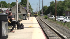 Scenes of the LIRR train at St. James station (1 of 5) Stock Footage
