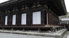 Main Hall at Sanjusangendo in Kyoto, Japan Stock Footage