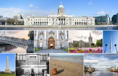 Stock Photo of dublin landmarks set