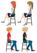 Four faceless people sitting Stock Illustration