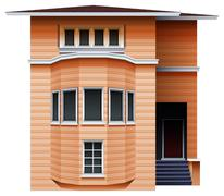 A tall brown building Stock Illustration