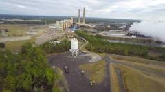 Aerial coal plant Biloxi - stock footage