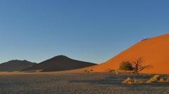 wide desert landscape sossusvlei namibia pan - stock footage