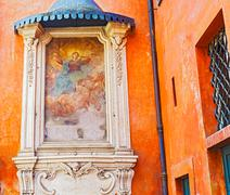 madonna assunta painting in rome, italy - stock photo