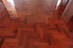 Parquet wood of floor design in house Stock Photos