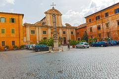 Church of san francesco a ripa in rome, italy. Stock Photos