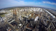 Aerial Phillips 66 refinery 4 aerial Stock Footage