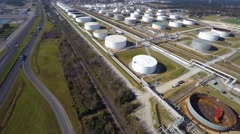 Aerial Phillips 66 refinery 10 aerial - stock footage