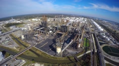 Aerial Phillips 66 refinery 3 aerial Stock Footage